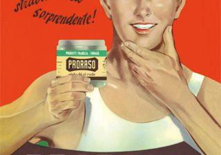 publicité Proraso, marque spécialisée dans les produits traditionnel du barbier et soins de la barbe.